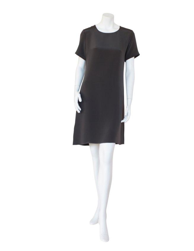 4-ply Silk Dress in Grey