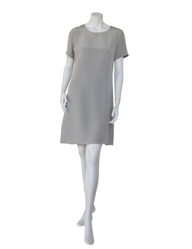 4-ply Silk Dress in Stone