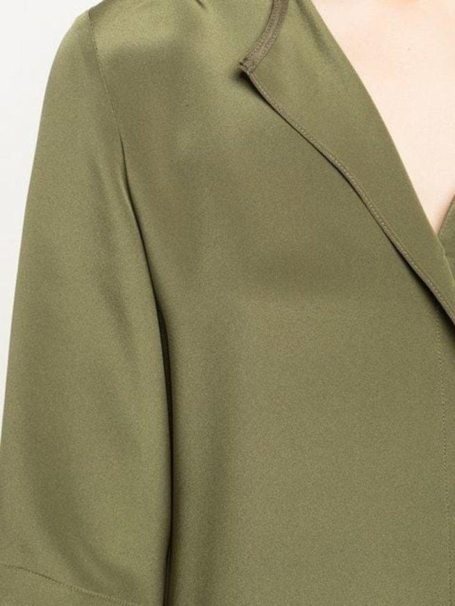 Minimal Mini Dress in Olive Green