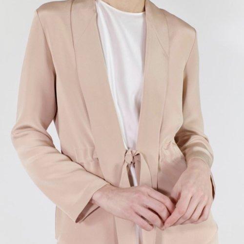 Silk Jacket in Buff