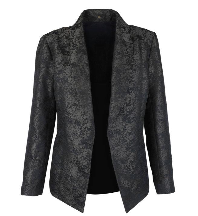 Jacquard Open Front Jacket