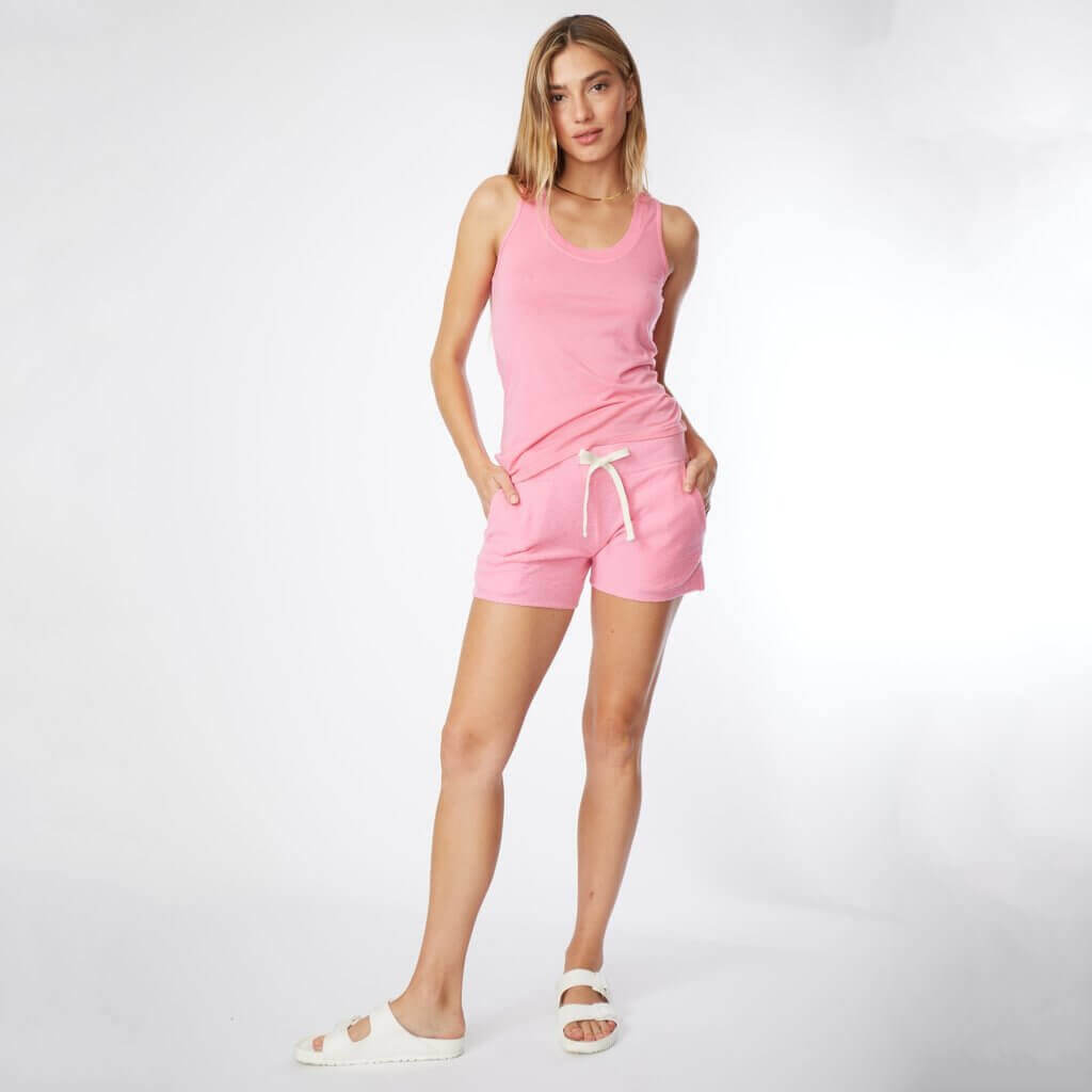 Cotton Modal Monrow Narrow Tank in Hot Pink
