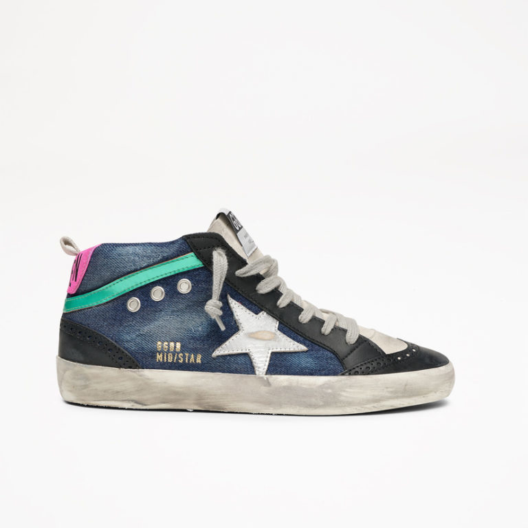 Mid Star Blue and Black Sneakers