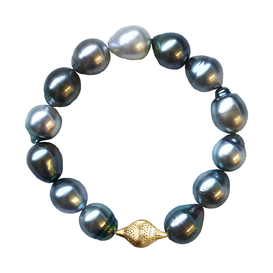Ray Griffiths Tahitian Pearls stretch bracelet