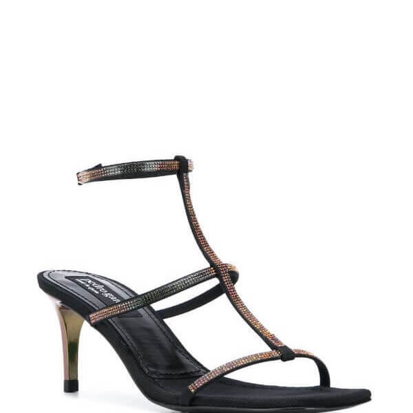 Ita Crystal Pave Gladiator in Black