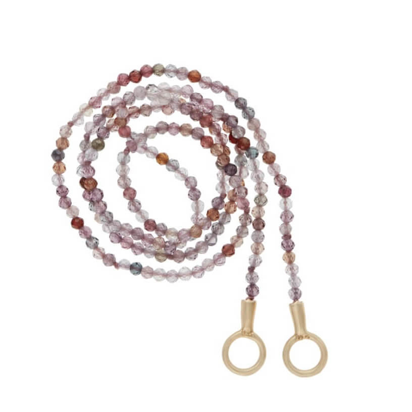 Marla Aaron Itty Bitty Strand with Pink Spinel