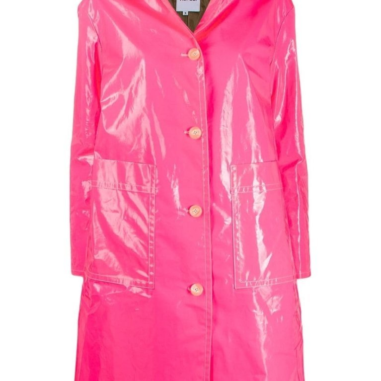 Fuchsia Laminated Coat