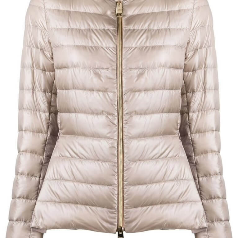Peplum Down Puffer Jacket