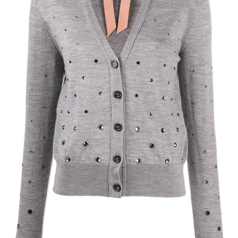 Crystal Embellished Cardigan