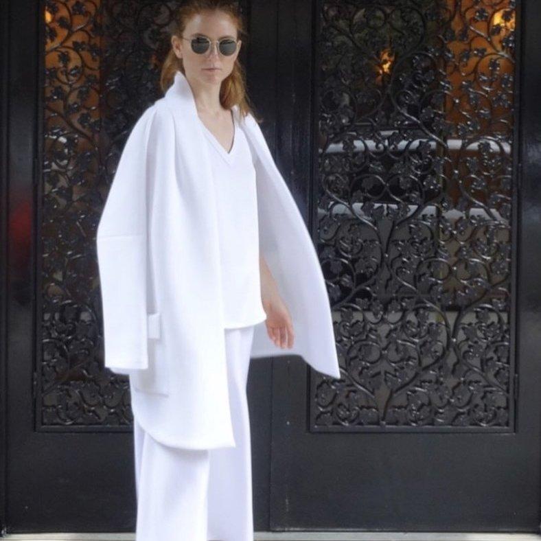 Cotton Puff Jacket in White