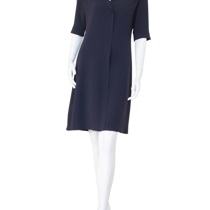 Club Dress in Silk Navy
