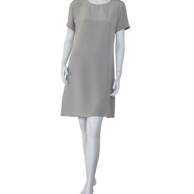 4-ply Silk Dress in Stone