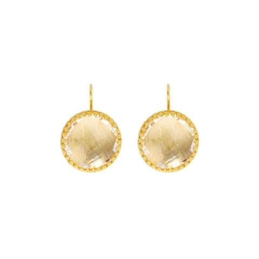 Olivia Button Earrings in Sancerre