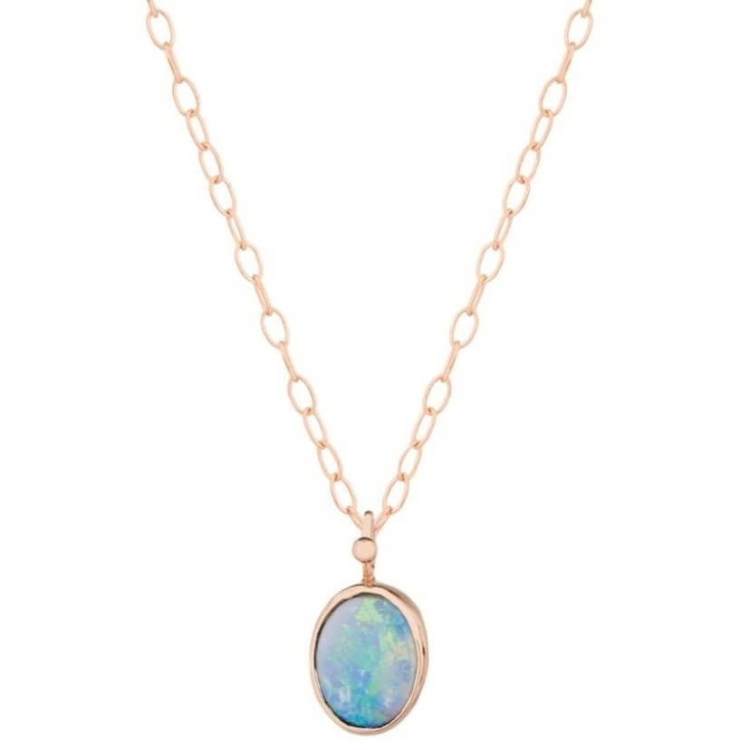 Little Vivid Australian Opal Chain Necklace