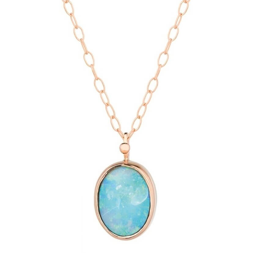Vivid Australian Opal Chain Necklace