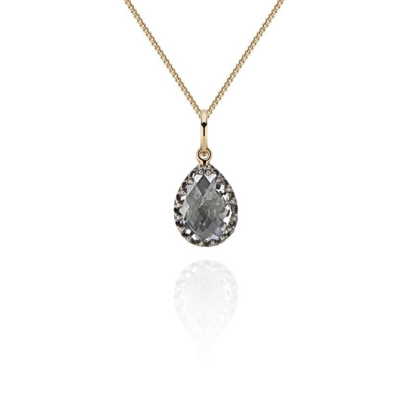 Lady Jane Small Pear Charm Necklace
