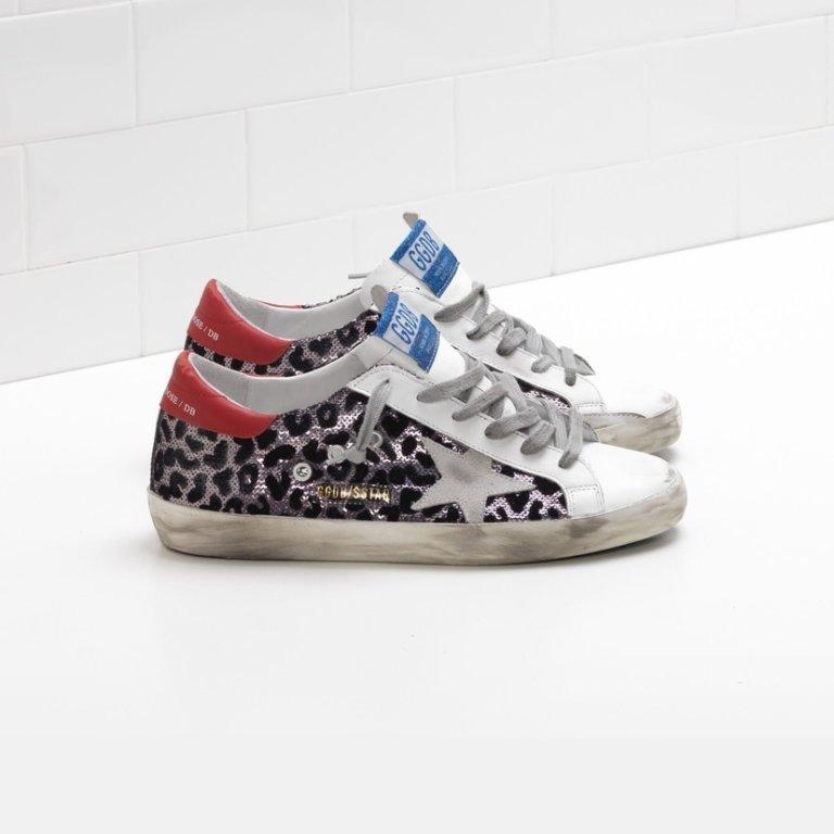 Superstar Leopard Sequin Sneakers