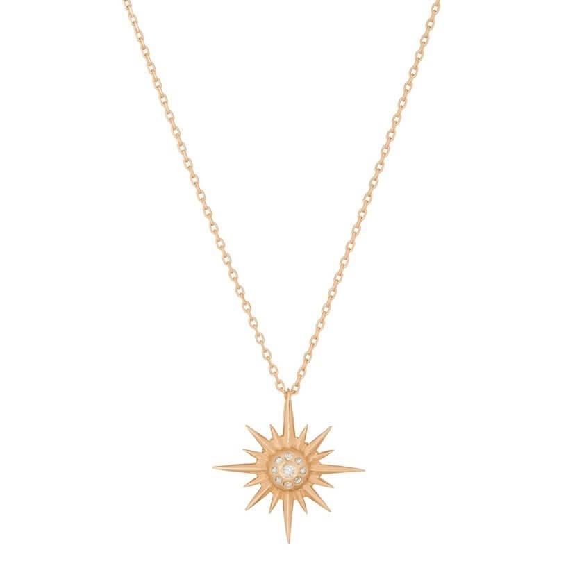 Star Sun Diamond Necklace