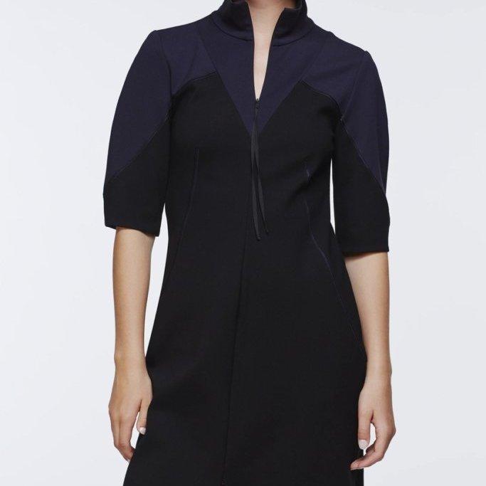 Emotional Essence Navy and Black Dress