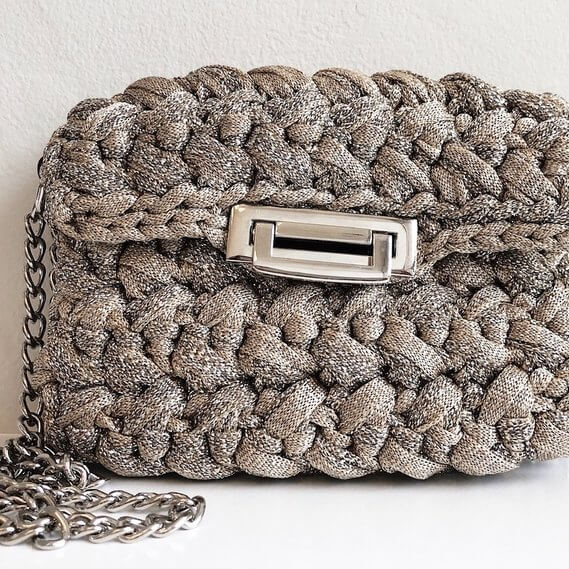 Nana Handbag in Neutral Metallic
