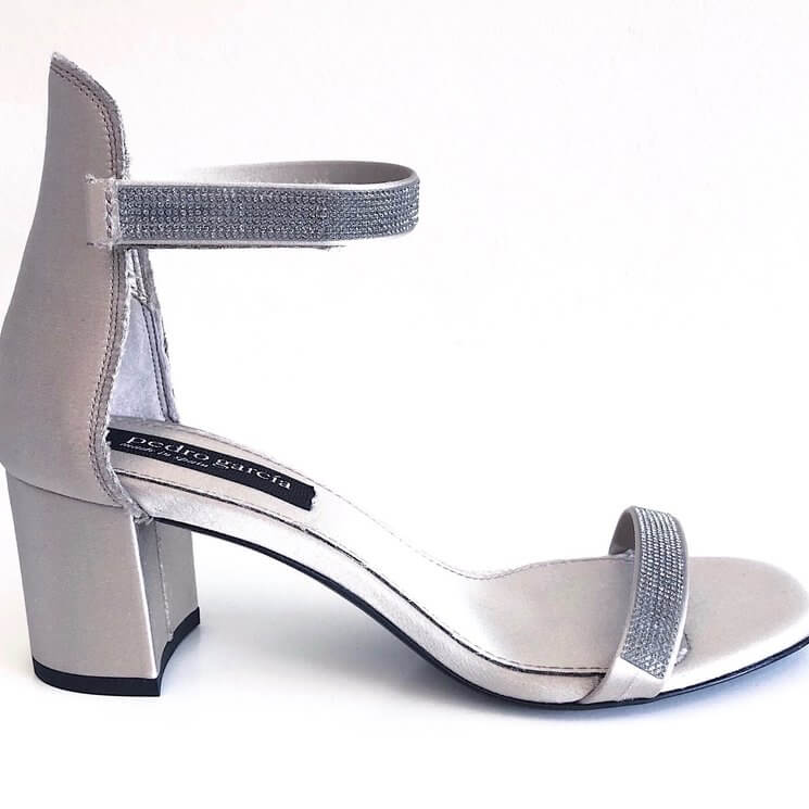 Xing Crystal Sandal in Silver