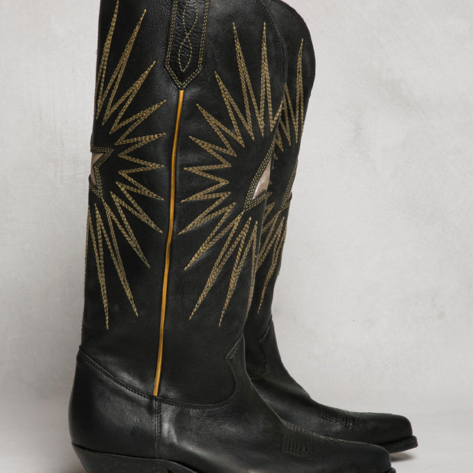 Wish Star Embroidered Leather Boots
