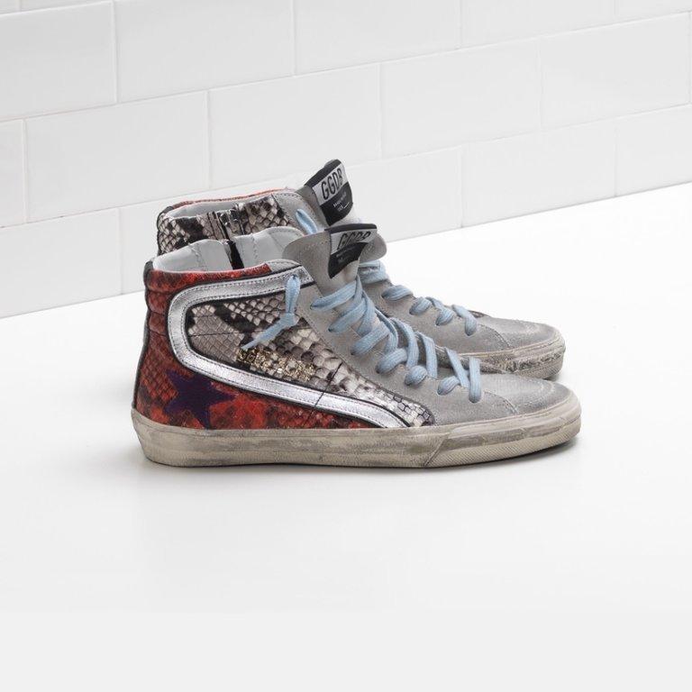 Slide Snake Print Sneakers