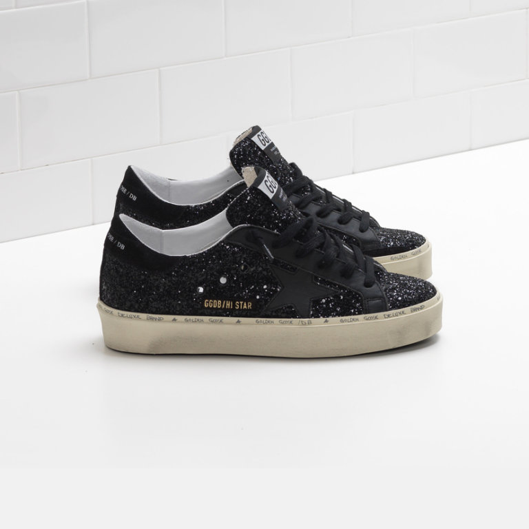 Hi Star Black Glitter Sneakers