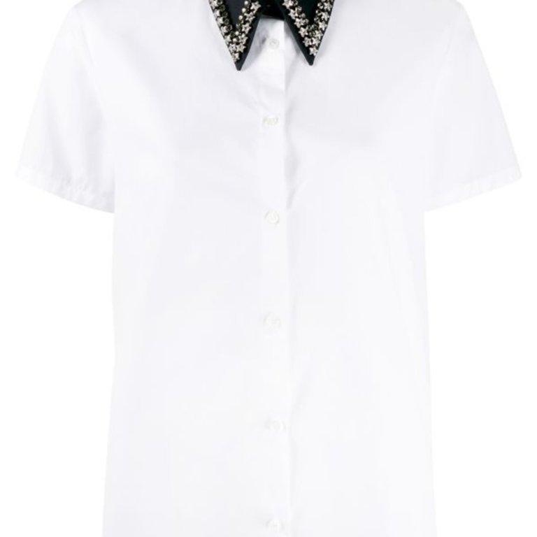 Crystal Embellished Collar Shirt