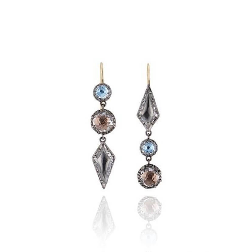 Sadie Mis-Matched Kite Drop Earrings