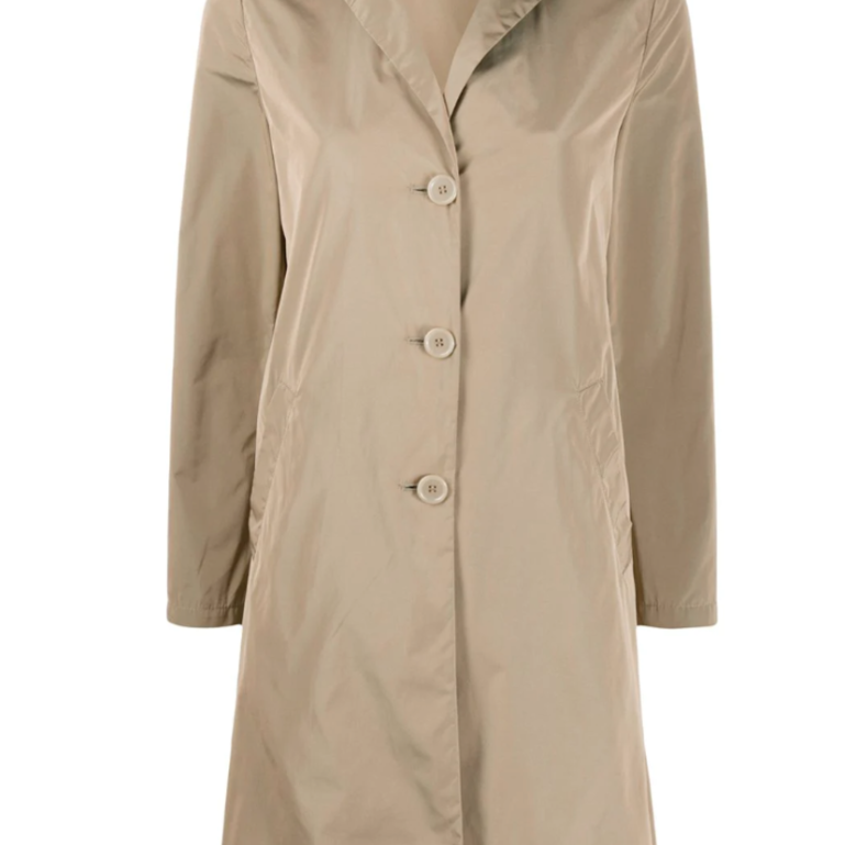Stracotto Coat in Beige Taffeta