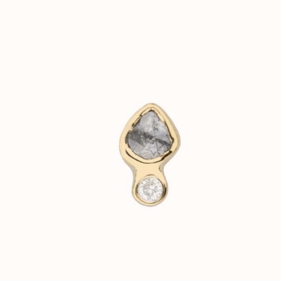 Grey Diamond Stud Earrings