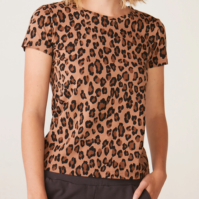 Leopard Tee in Natural