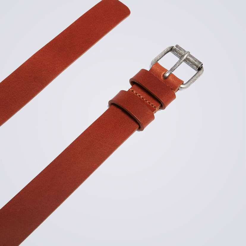 Tan Leather 1 1/2″ Belt