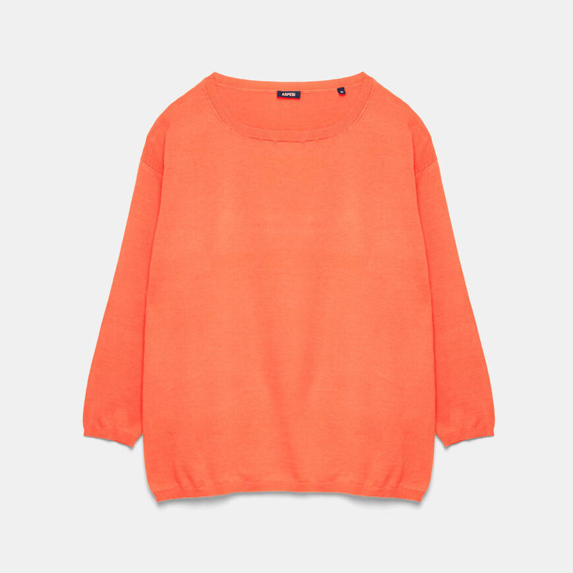 Cotton Sweater in Coral