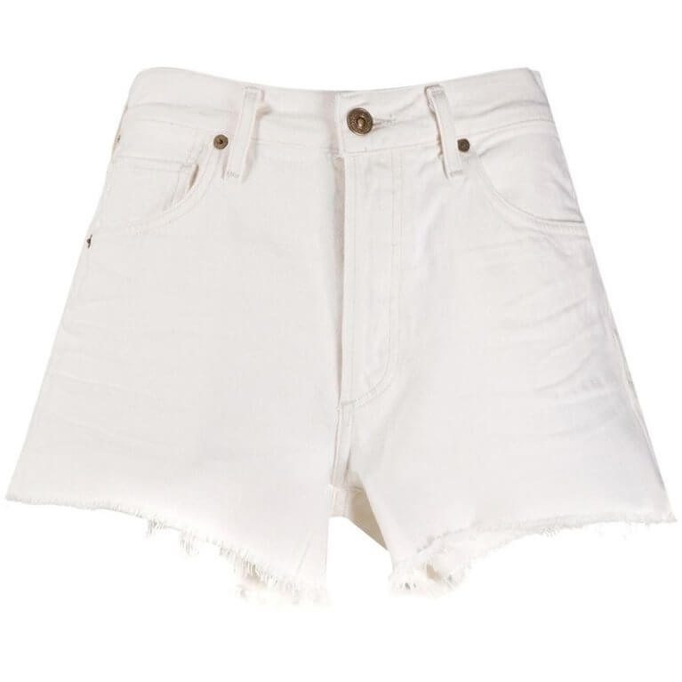 Marlow Easy Frayed Shorts in White