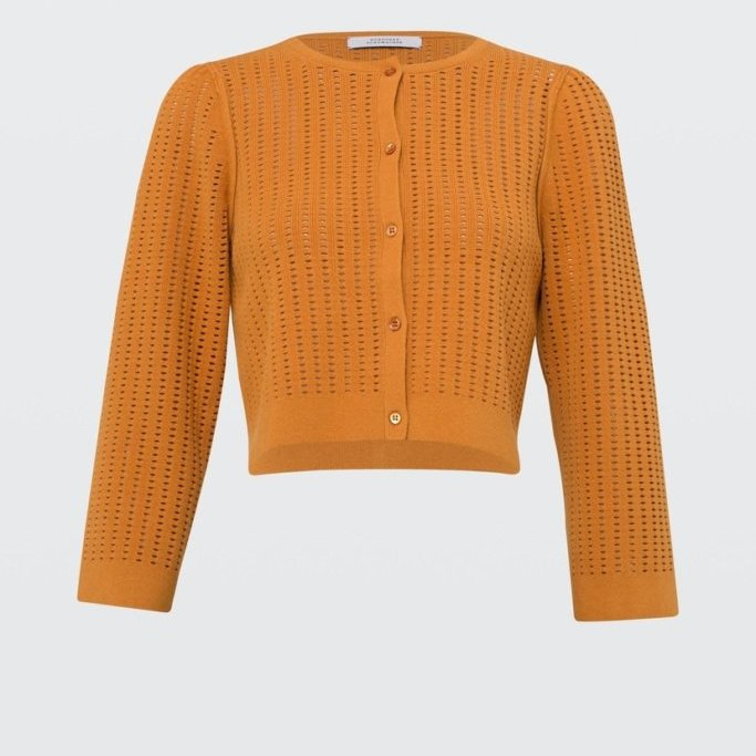 Cardigan in Orange