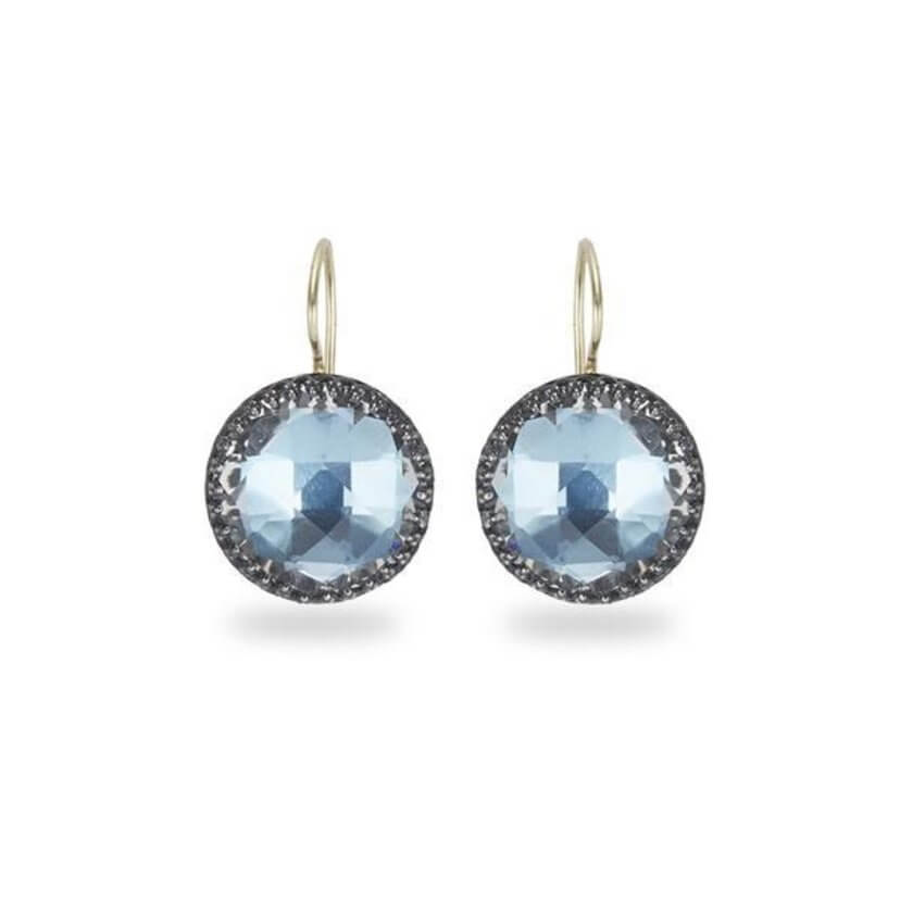 Olivia Button Earrings in Sky Blue