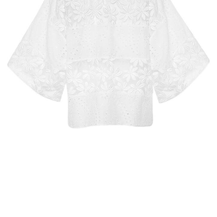 Lace Top In White