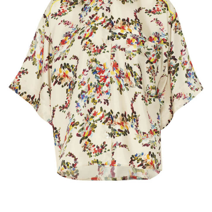 Floral Short Sleeved Blouse