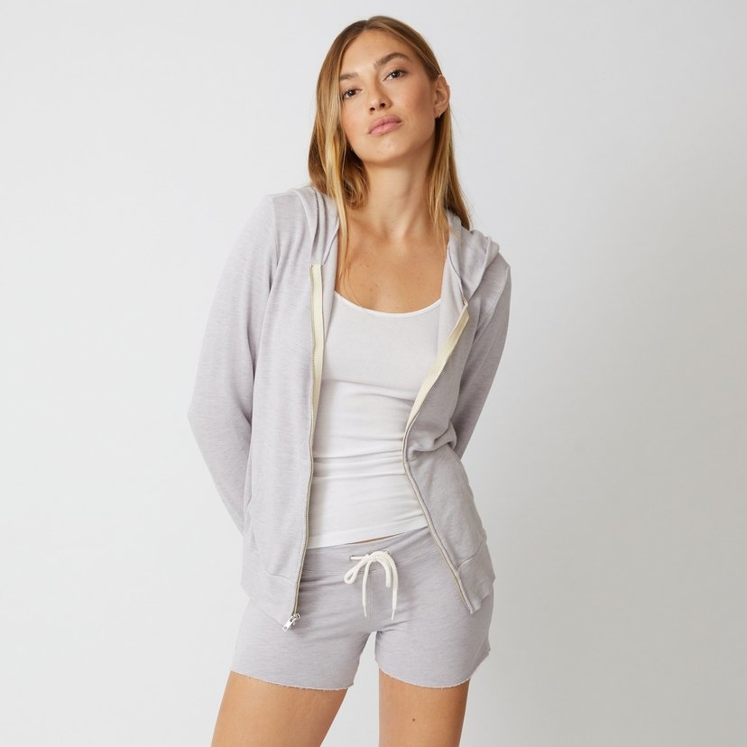 Supersoft Zip Up Hoody in Lilac