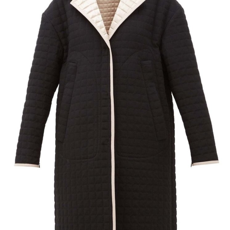 Reversible Quilted-Satin Coat