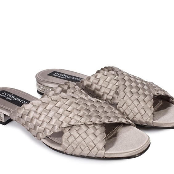 Elif Grey Satin Sandal