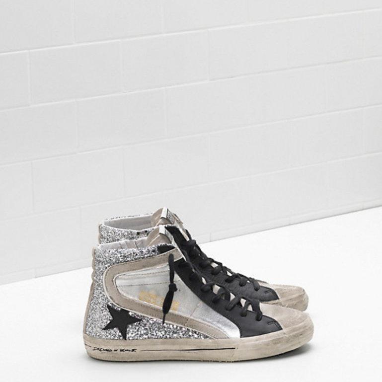 Slide Silver Glitter Sneaker