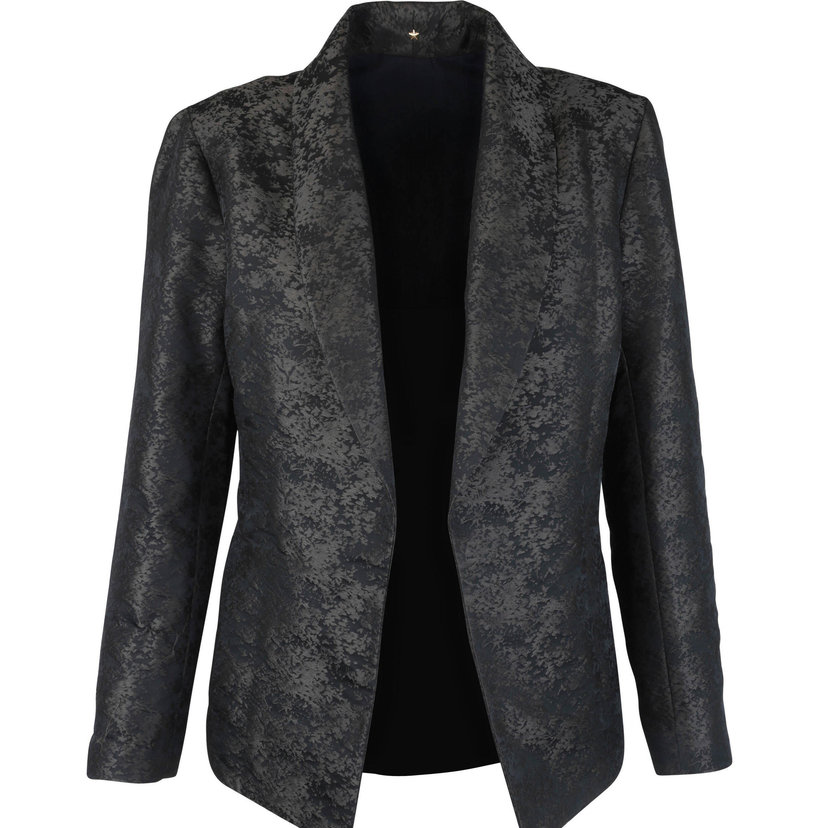 Jacquard Open Front Jacket
