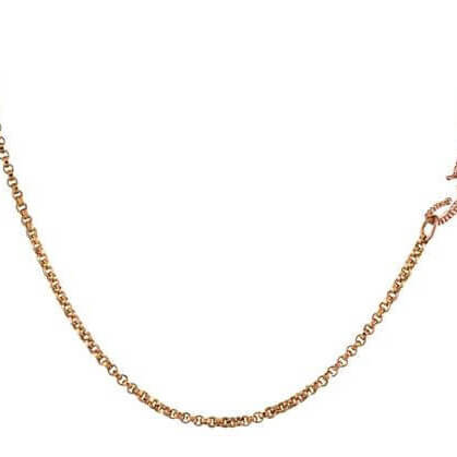Wave Gold Link Chain Necklace