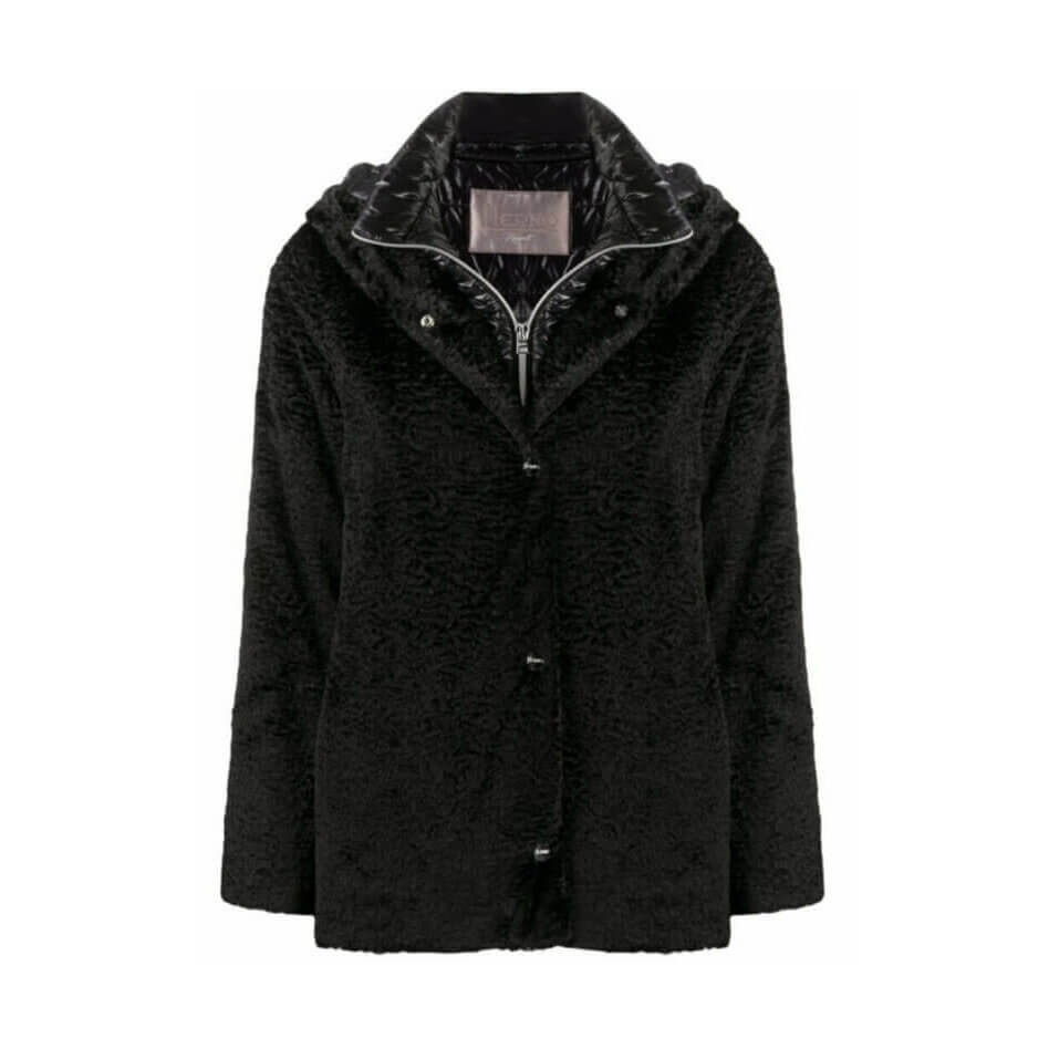 Herno short faux-fur padded coat