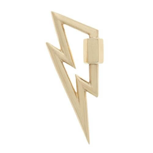 Marla Aaron Gold Lightening Bolt